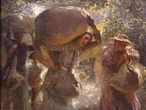 George Clausen - Gleaners vindo casa
