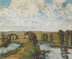 Evelyn Anne Woodroffe Hicks - os dois Rhynes , Somerset
